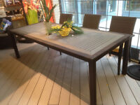 Table de jardin 8 a 10 places GRANDE LARGE patio dinning table
