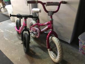Girls starter bicycle's