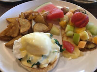 JOIN OUR BREAKFAST COOKING TEAM  at Chez Francois