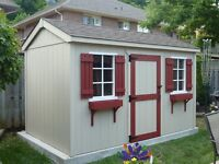 SHEDS NIAGARA     8X12        $2250.00        INSTALLED!!!