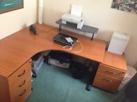 Office desk/ cabinets and chair