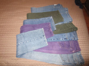 5 pairs of jeans, size 34, in great condition