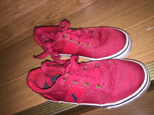 Kids Polo Sneakers - Red = Size US10 1/2