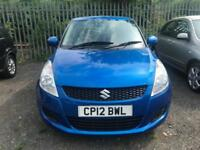 2012 (12 reg) Suzuki Swift 1.2 SZ2 3dr Hatchback Petrol 5 Speed Manual