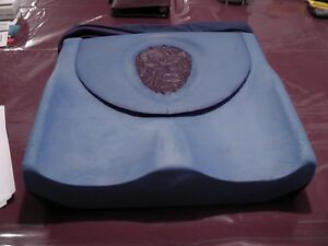 Wheelchair cushion with foam and gel