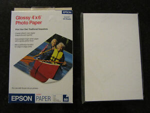 "Epson Glossy 4"" x 6"" photo paper"
