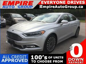 2017 FORD FUSION SE W/ECOBOOST * AWD * LEATHER * NAV * REAR CAM