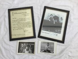 Rolling Stones copies of 1965 Bill Wyman letter & picture of Keith Richards. Plus original postcard