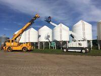 80ft man lift and 90ft crane