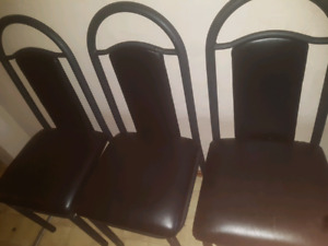 Black chairs $20 each call or text 204-800-7203