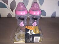BRAND NEW PINK TOMMEE TIPPEE BOTTLES