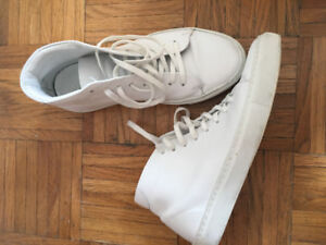 Frank and Oak Leather High-Top Sneakers 7.5 (men's)