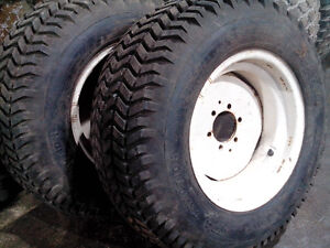 2 New tractor tires and rims,  Goodyear