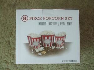 Never Opened 5 Piece Popcorn Bowls