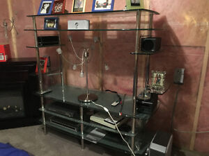 Glass Entertainment/TV Stand in Perfect Condition!