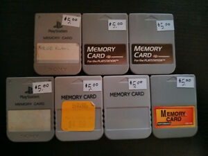 PS1 memory cards $5 each