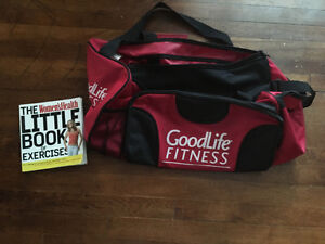 Goodlife bag and work out book