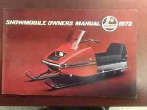 1972 RUPP Snowmobile Owners Manual London Ontario image 1