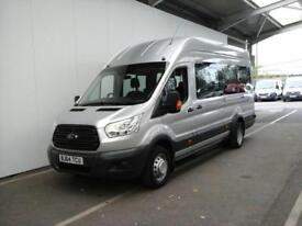 2014 FORD TRANSIT 460 TDCI 155 L4 H3 17 SEAT BUS HIGH ROOF DRW RWD MINIBUS DIES