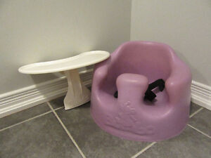 Bumbo chair (lilac) with straps and tray