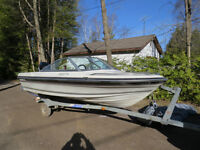 14 1/2 FT RUNABOUT, 40HP MERC AND TRAILER