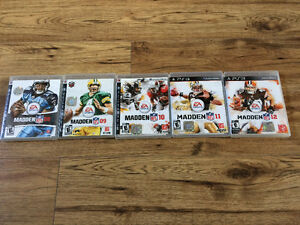 PlayStation 3 madden game lot
