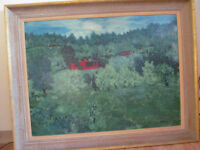 Large impressionist painting by J.Schiefer. Price reduced.