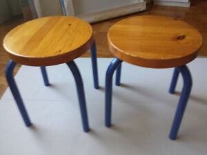"""Kid Stools, 2 pieces, 12"""" height"""