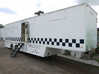 ARTICULATED TRAILER COMMAND CENTRE CCTV CONTROL UNIT EX MILITARY STATIC HOME