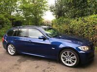 2007 57 BMW 330d M Sport 0 3.0 AUTO DIESEL ESTATE TOURING LE MANS BLUE