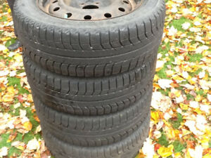 michelin x-ice tires 205/60/R16 with rims