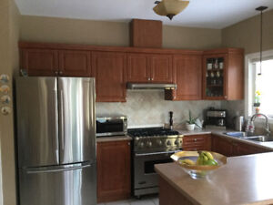 Kitchen Cabinets, Counter top, Sink and Faucets