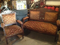 Antique East Lake Settee and Chair