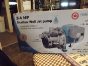 3/4 inch stainless shallow well jet pump up to 900 gph
