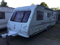 2005 MODEL ELDDIS CRUSADER SUPERSTORM TWIN AXLE 5 - 6 BERTH TOURING CARAVAN WITH AWNING MOTOR MOVER