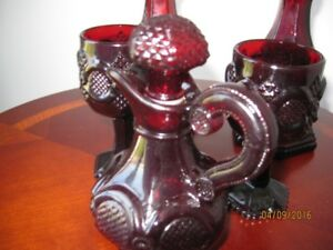 Avon and Ruby Red Glass