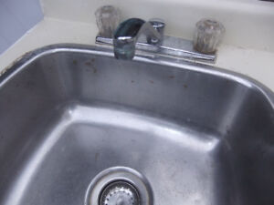 Sink and faucets