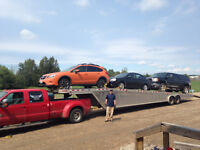 Car Hauler leaving Halifax in 10 days. Heading West to AB,