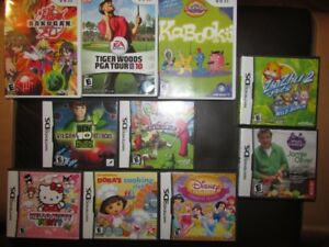 Nintendo DS and Wii games and stylus sets