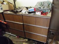 Storage cabinets - drawers price is each section |(250 for 2)
