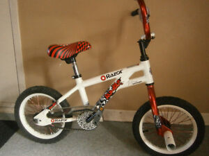 "Boys 14""  bike plus training wheels."
