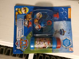 Paw patrol Bubble Camera toy.