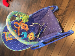 Baby play mat and vibrating chair