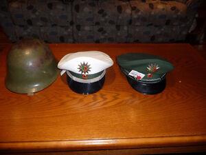 Képi allemand et casque militaire chinois