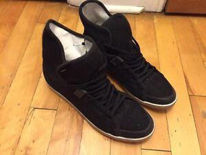 SLVR Women's Sneakers Black High Tops Size 9.5