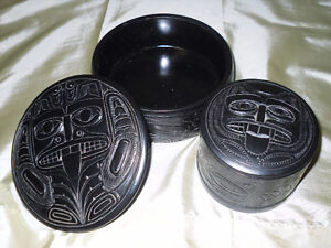 Canadian Made Pearlite boxes with Native design