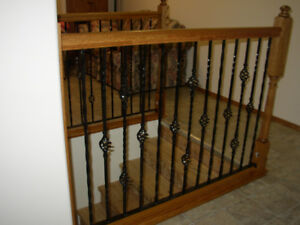 Wrought Iron Balusters Metal set of 9  Single and double baskets