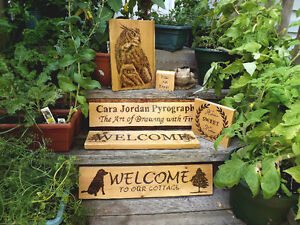 HANDMADE WOODBURNING SIGN- WELCOME TO OUR COTTAGE! Peterborough Peterborough Area image 3