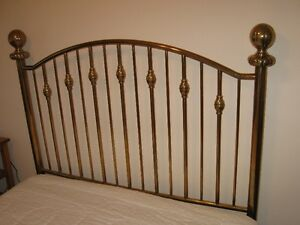 Solid Brass Double Bed Headboard