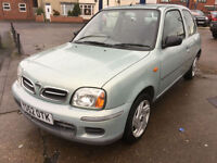 2002 Nissan Micra 1.0 S 66,000 MILES, FULL HISTORY 1 LADY OWNER FROM NEW !!